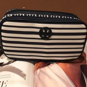 AUTHENTIC TORY BURCH LARGE TWIN COSMETICS CASE